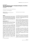 "Báo cáo y học: ""Recently published papers: Changing bandwagons, innovations and questioning dogma"""