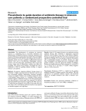 "Báo cáo y học: ""Procalcitonin to guide duration of antibiotic therapy in intensive care patients: a randomized prospective controlled trial"""