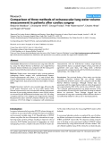 """Báo cáo y học: """" Comparison of three methods of extravascular lung water volume measurement in patients after cardiac surgery"""""""