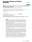 "Báo cáo y học: "" Cable properties and propagation velocity in a long single chain of simulated myocardial cells"""