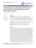 """Báo cáo y học: """"Research Chemotherapy in conjoint aging-tumor systems: some simple models for addressing coupled aging-cancer dynamics"""""""