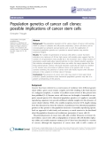 "Báo cáo y học: ""Population genetics of cancer cell clones: possible implications of cancer stem cells"""