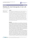 "Báo cáo y học: ""Modeling the clonal heterogeneity of stem cells"""
