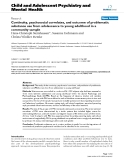 "Báo cáo y học: ""Continuity, psychosocial correlates, and outcome of problematic substance use from adolescence to young adulthood in a community sample"""