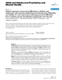 """Báo cáo y học: """"Global impression of perceived difficulties in children and adolescents with attention-deficit/hyperactivity disorder: Reliability and validity of a new instrument assessing perceived difficulties from a patient, parent and physician perspective over the day"""""""