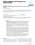 """Báo cáo y học: """" The NICE ADHD health technology assessment: A review and critique"""""""