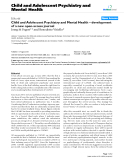 "Báo cáo y học: ""Child and Adolescent Psychiatry and Mental Health – development of a new open-access journal"""