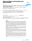 "Báo cáo y học: ""Conduct disorder in girls: neighborhoods, family characteristics, and parenting behaviors"""