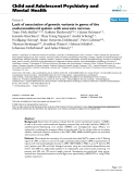 "Báo cáo y học: ""Lack of association of genetic variants in genes of the endocannabinoid system with anorexia nervosa"""
