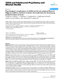 "Báo cáo y học: ""Psychological complications of childhood chronic physical illness in Nigerian children and their mothers: the implication for developing pediatric liaison services"""