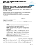 "Báo cáo y học: ""Posttraumatic stress disorder (PTSD) in children after paediatric intensive care treatment compared to children who survived a major fire disaster"""