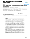 "Báo cáo y học: ""Martial arts as a mental health intervention for children? Evidence from the ECLS-K"""
