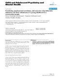 "Báo cáo y học: ""ontinuity, psychosocial correlates, and outcome of problematic substance use from adolescence to young adulthood in a community sample"""