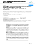 "Báo cáo y học: ""Estimating the number of children exposed to parental psychiatric disorders through a national health survey"""