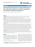 "Báo cáo y học: ""Self-reported drunkenness among adolescents in four sub-Saharan African countries: associations with adverse childhood experiences"""