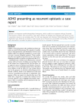 """Báo cáo y học: """"ADHD presenting as recurrent epistaxis: a case report"""""""