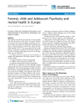 "Báo cáo y học: ""Forensic child and Adolescent Psychiatry and mental health in Europe"""