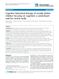 "Báo cáo y học: ""Cognitive behavioral therapy of socially phobic children focusing on cognition: a randomised wait-list control study"""