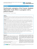 """Báo cáo y học: """"Psychometric evaluation of the Forensic Inpatient Observation Scale (FIOS) in youngsters with a judicial measure"""""""