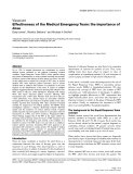 "Báo cáo y học: ""Effectiveness of the Medical Emergency Team: the importance of dos"""