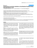 """Báo cáo y học: """"evelopment and initial validation of the Bedside Paediatric Early Warning System score"""""""
