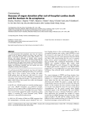 "Báo cáo y học: "" Success of organ donation after out-of-hospital cardiac death and the barriers to its acceptance"""