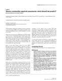 """Báo cáo y học: """"Severe community acquired pneumonia: what should we predict"""""""