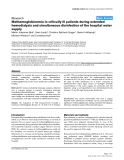 """Báo cáo y học: """"Methemoglobinemia in critically ill patients during extended hemodialysis and simultaneous disinfection of the hospital water supply"""""""