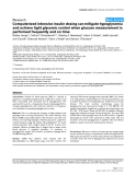 """Báo cáo y học: """"Computerized intensive insulin dosing can mitigate hypoglycemia and achieve tight glycemic control when glucose measurement is performed frequently and on time"""""""