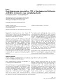 "Báo cáo y học: ""Real-time reverse-transcription PCR in the diagnosis of influenza A (H1N1)v in intensive care unit adult patients"""