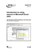 Introduction to using macros in Microsoft Excel 2003 phần 1