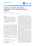 "Báo cáo y học: ""Splendors and miseries of expired CO2 measurement in the suspicion of pulmonary embolism"""