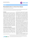 "Báo cáo y học: ""Renal dysfunction in chronic liver disease"""