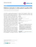 """Báo cáo y học: """"Relatives' evaluation in older patient's quality of life"""""""