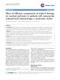 "Báo cáo y học: ""Effect of different components of triple-H therapy on cerebral perfusion in patients with aneurysmal subarachnoid haemorrhage: a systematic review"""