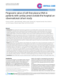 """Báo cáo y học: """" Prognostic value of cell-free plasma DNA in patients with cardiac arrest outside the hospital: an observational cohort study"""""""