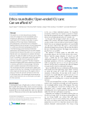 """Báo cáo y học: """" Ethics roundtable: 'Open-ended ICU care: Can we afford it"""""""