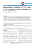 "Báo cáo y học: ""Re-inspiration of CO2 from ventilator circuit: effects of circuit flushing and aspiration of dead space up to high respiratory rate"""