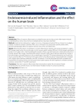 "Báo cáo y học: "" Endotoxemia-induced inflammation and the effect on the human brain"""