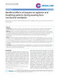"""Báo cáo y học: """" Beneficial effects of loxapine on agitation and breathing patterns during weaning from mechanical ventilation"""""""