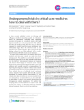 "Báo cáo y học: ""Underpowered trials in critical care medicine: how to deal with them"""