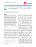 "Báo cáo y học: "" A plethora of angiopoietin-2 effects during clinical sepsis"""