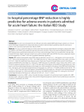 "Báo cáo y học: ""In-hospital percentage BNP reduction is highly predictive for adverse events in patients admitted for acute heart failure: the Italian RED Study"""