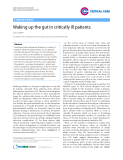 """Báo cáo y học: """"Waking up the gut in critically ill patients"""""""