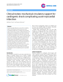 "Báo cáo y học: ""Clinical review: mechanical circulatory support for cardiogenic shock complicating acute myocardial infarction"""
