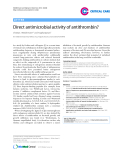"Báo cáo y học: "" Direct antimicrobial activity of antithrombin"""