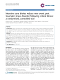"Báo cáo y học: ""Intensive care diaries reduce new onset post traumatic stress disorder following critical illness: a randomised, controlled trial"""
