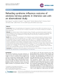"Báo cáo y học: ""Refeeding syndrome influences outcome of anorexia nervosa patientsin intensive care unit: an observational study"""