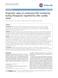 "Báo cáo y học: ""Prognostic value of continuous EEG monitoring during therapeutic hypothermia after cardiac arrest"""