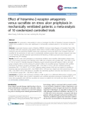 "Báo cáo y học: ""Effect of histamine-2-receptor antagonists versus sucralfate on stress ulcer prophylaxis in mechanically ventilated patients: a meta-analysis of 10 randomized controlled trials"""